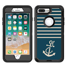 Amazon Com Teleskins Protective Designer Vinyl Skin Decals Stickers Compatible With Otterbox Defender Iphone 8 Plus Iphone 7 Plus Case Nautical Ropes And Anchor Design Patterns Only Skins And Not Case