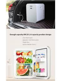 KEMIN 20L Tự Động Tủ Lạnh Mini cho Xe Tủ Lạnh Tủ Đông Xách Tay Nhanh Chóng  Lạnh Hộ Gia Đình Dual core Mát LED Hiển Thị 