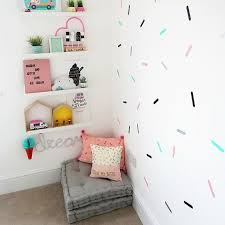 Coloured Sprinkle Shape Wall Stickers Children S Bedroom Etsy In 2020 Confetti Wall Decals Kids Wall Decals Confetti Wall