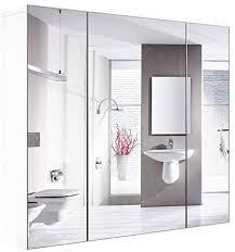 homfa bathroom wall mirror cabinet