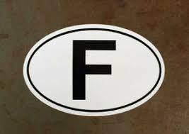 France Country Of Origin F Euro Oval Vintage European Sports Car Decal Sticker Ebay
