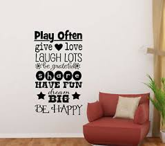 Playroom Rules Sign Wall Decal Kids Room Children Quote Door Vinyl Sticker 829 Ebay