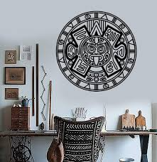 Vinyl Wall Decal Aztec Mayan Ancient Calendar Amulet Stickers Unique G Wallstickers4you