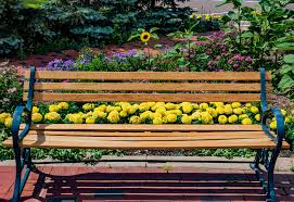 park bench flowers a bench is a long