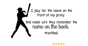 Amazon Com Softball Wall Decal Girls Inspirational Sports Quote 30 X12 Softball1 Home Kitchen