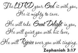 Zephaniah 3 17 11 X 22 Vinyl Wall Decal By Scripture Wall Art