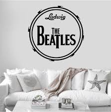 The Beatles Ludwig Drum Music Band Wall Decal Sticker Mural Etsy