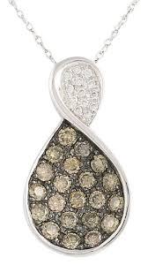 le vian diamond pendant 18 14k white