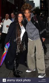 Felicia Collins and Macy Gray Celebrities arrive at Ed Sullivan Stock Photo  - Alamy