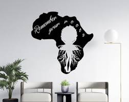 Africa Map Decal Etsy