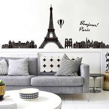 Zs Sticker Paris Wall Stickers Eiffel Tower Wall Decals Skyline Vinyl Living Room Bedroom Sticker Background City Paris Wall Sticker Eiffel Tower Wall Decalwall Sticker Eiffel Tower Aliexpress