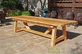 10 foot long provence table with 4x4 s