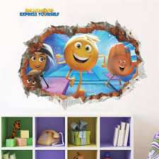 3d Emoji Smiley Faces Smashed Wall Stickers For Kids Baby Nursery Home Decor Cartoon Movie Decals Pvc Mural Art Decorations Wall Decal Sale Wall Decal Sticker From Totwo2 6 02 Dhgate Com