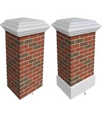 Theothersignco Cheap Faux Columns Brick Fence Post Covers