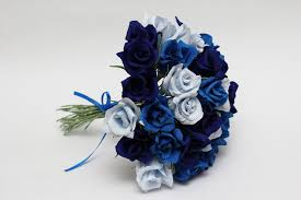 ورد ازرق غامق اجمل الزهور الزرقاء حنان خجولة