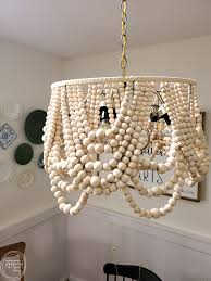 diy beaded chandelier upcycled from an