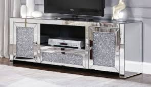 mirror glass tv stand for in uk