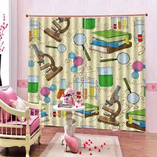 2020 Science Laboratory Doodle Window Curtains For Living Room Bedroom Outdoor Fabric Decor Kids Curtain Customizable Any Size From A1048874333 45 44 Dhgate Com