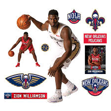 New Orleans Pelicans Zion Williamson Fathead 11 Pack Life Size Removable Wall Decal