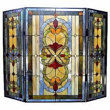 chloe lighting tiffany 3 panel bronze