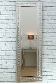 ornate rectangle wall mirror silver