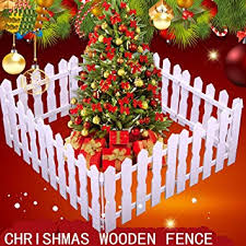 Gaddrt 1 2m Diy Wooden Christmas Miniature Garden Fence Garden Kit Christmas Tree Decoration Miniature Craft Set For 1 12 1 6 Doll House Scene Model Kid S Pretend Play Toy A Amazon Co Uk Toys Games