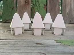 12 Pcs White Vinyl Fence Pointed Picket Caps 1 5 X 7 8 Arrow Head Tops Ebay