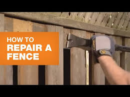Fence Repair Fix Leaning Fences Broken Posts More Youtube