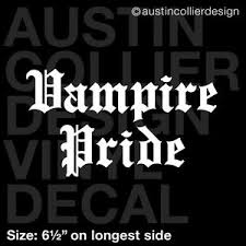6 5 Vampire Pride Vinyl Decal Car Window Laptop Sticker Goth Ebay