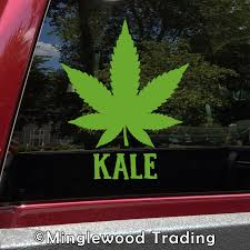 Kale Marijuana Leaf Vinyl Decal Cannabis Pot Indica Sativa Die Cut Sticker