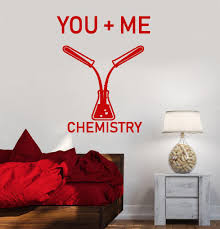 Vinyl Wall Decal You Me Chemistry Romantic Love Words Tube Stickers 2 Wallstickers4you