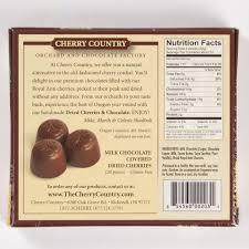 milk chocolate ered dried cherries