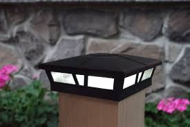 Landscape Walkway Lights Home Garden Solar Powered Black Post Cap Light Led For Wall Mount Or Post Mount 4x4 5x5 6x6 Adrp Fournitures Fr