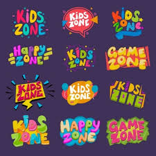 Premium Vector Game Room Kids Playroom Banner In Cartoon Style For Children Happy Play Zone Decoration Illustration Set Of Childish Lettering Label For Kindergarten Decor Isolated On Background