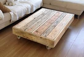 wood pallets coffee tables