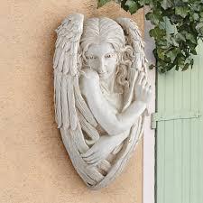 Design Toscano Tristan The Timid Angel Wall Sculpture Reviews Wayfair