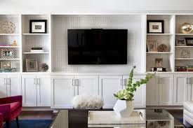 transitional living room features a