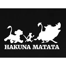 Amazon Com Hakuna Matata Lion King Decal Vinyl Sticker Cars Trucks Vans Walls Laptop White 5 5 X 3 In Lli725 Computers Accessories