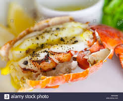 Tasty lemon-butter grilled lobster ...