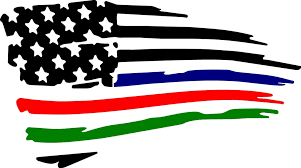 Thin Blue Red Green Line Flag Decal Drew S Decals