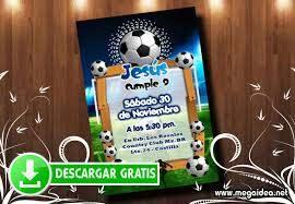 Invitacion De Futbol Para Imprimir Gratis Mega Idea