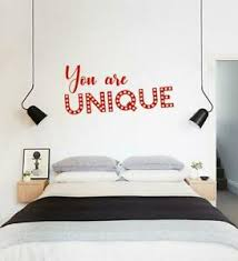 You Are Unique Wall Sticker Decal Art Quote Lettering Inspirational Quote Sq243 Ebay