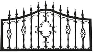 Amazon Com Mr Chain Orleans Collection Fencing Midnight Black 24 Inch Decorative Lawn Fencing Or Wall Art 5 Pack Outdoor Decorative Fences Garden Outdoor