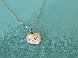 initial k mini disc sterling silver