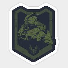 Halo Master Chief Halo Sticker Teepublic