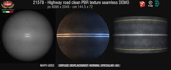 Highway road clean PBR texture-seamless 21578