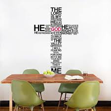 Christian Religious Cross Vinyl Quote Wall Decal Home Decor God Wall Art Wall Stickers Stickers And Decals For Cars Sticker Funsticker Notebook Aliexpress