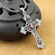 100 925 silver cross pendant necklace