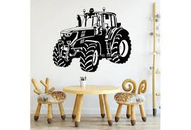 Cool Tractor Decals Wall Stickers For Kids Bedroom Wall Decor Vinyl Murals Boy Room Nursery Wall Decals Cartoon Posters Wish