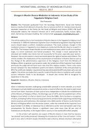 pdf changes in muslim divorce mediation in a case